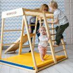 Klettergerüst Indoor 1 Kidwood Klettergerst Rakete Basis Set Aus Holz Fr Garten Wohnzimmer Klettergerüst Indoor