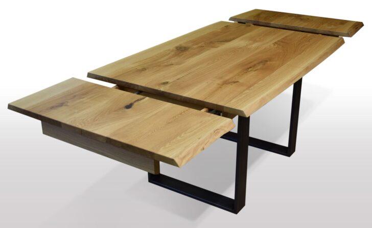 Medium Size of Esstische Ausziehbar Tisch Mit Baumkante Eiche Breite 100cm Lnge Whlbar Esstisch Weiß Rund Runder Moderne 160 Kleine Design Massiv Massivholz Holz Esstische Esstische Ausziehbar