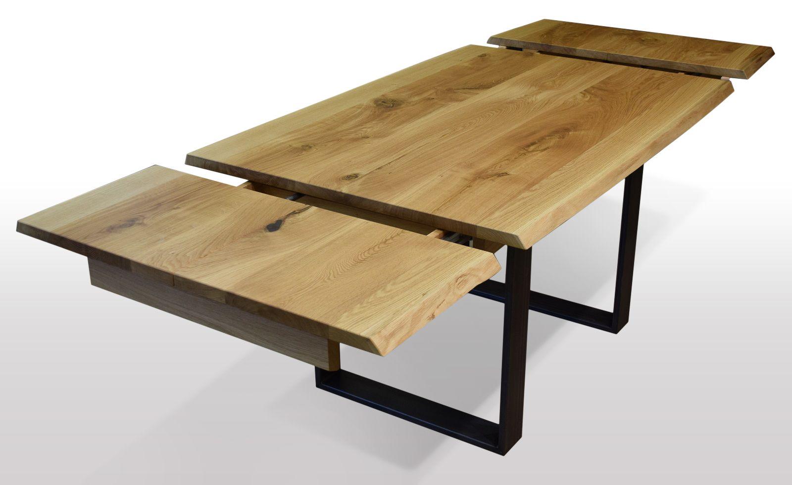 Full Size of Esstische Ausziehbar Tisch Mit Baumkante Eiche Breite 100cm Lnge Whlbar Esstisch Weiß Rund Runder Moderne 160 Kleine Design Massiv Massivholz Holz Esstische Esstische Ausziehbar