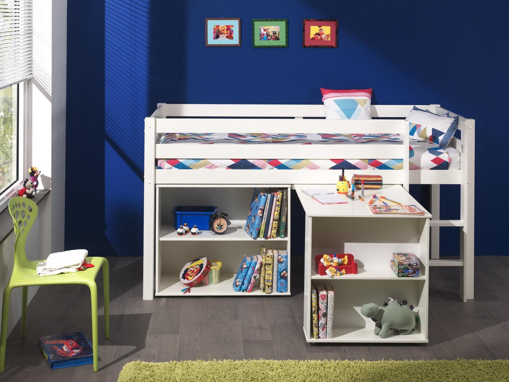 Full Size of Kinderzimmer Hochbett Funktionsbett Pino Mit Schreibtisch Regal Leiter Regale Weiß Sofa Kinderzimmer Kinderzimmer Hochbett