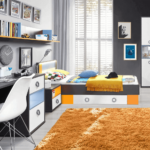 Komplett Kinderzimmer Jugendzimmer Set 5 Teilig Grau Wei Orange Regal Komplettküche Komplette Schlafzimmer Massivholz Guenstig Regale Komplettangebote Kinderzimmer Komplett Kinderzimmer