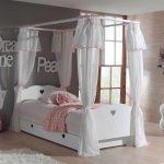 Kinderbett Mädchen Mdchen Grandory In Wei Mit Himmel Wohnende Betten Bett Wohnzimmer Kinderbett Mädchen