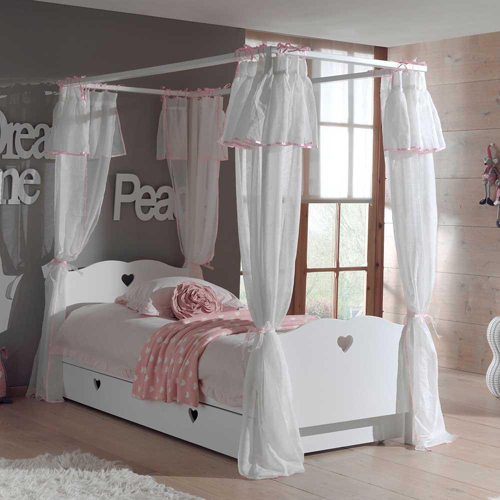 Full Size of Kinderbett Mädchen Mdchen Grandory In Wei Mit Himmel Wohnende Betten Bett Wohnzimmer Kinderbett Mädchen