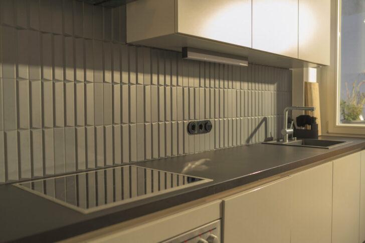 Medium Size of Küchenwand Innovatives Design Matte 3d Kchenwand Fliesen In Dunkelgrau Wohnzimmer Küchenwand