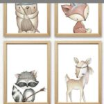 Wandbild Kinderzimmer Kinderzimmer Wandbild Kinderzimmer Ein Tolles Bild Set Mit Indianer Tieren Wandbilder Schlafzimmer Regal Weiß Wohnzimmer Sofa Regale