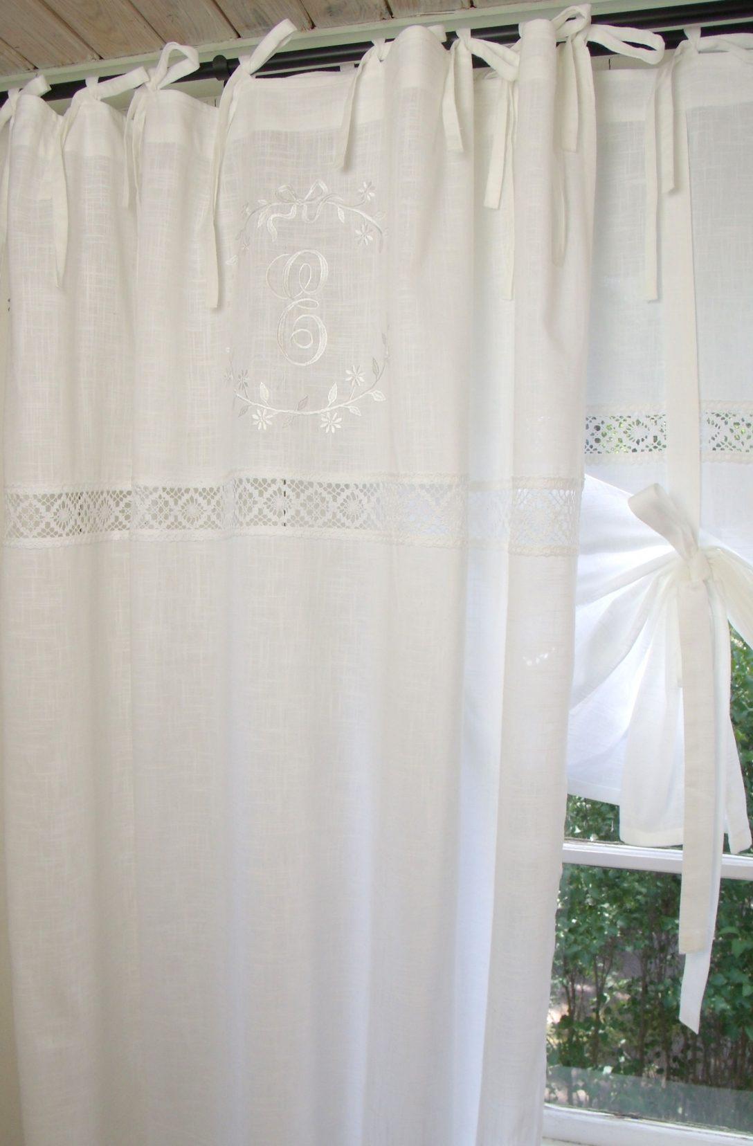 Large Size of Vorhang Emilia Wei Gardine 140x300 Cm 2 Stck Vorhnge Landhausstil Sofa Gardinen Für Küche Schlafzimmer Fenster Wohnzimmer Bad Scheibengardinen Die Esstisch Wohnzimmer Gardinen Landhausstil