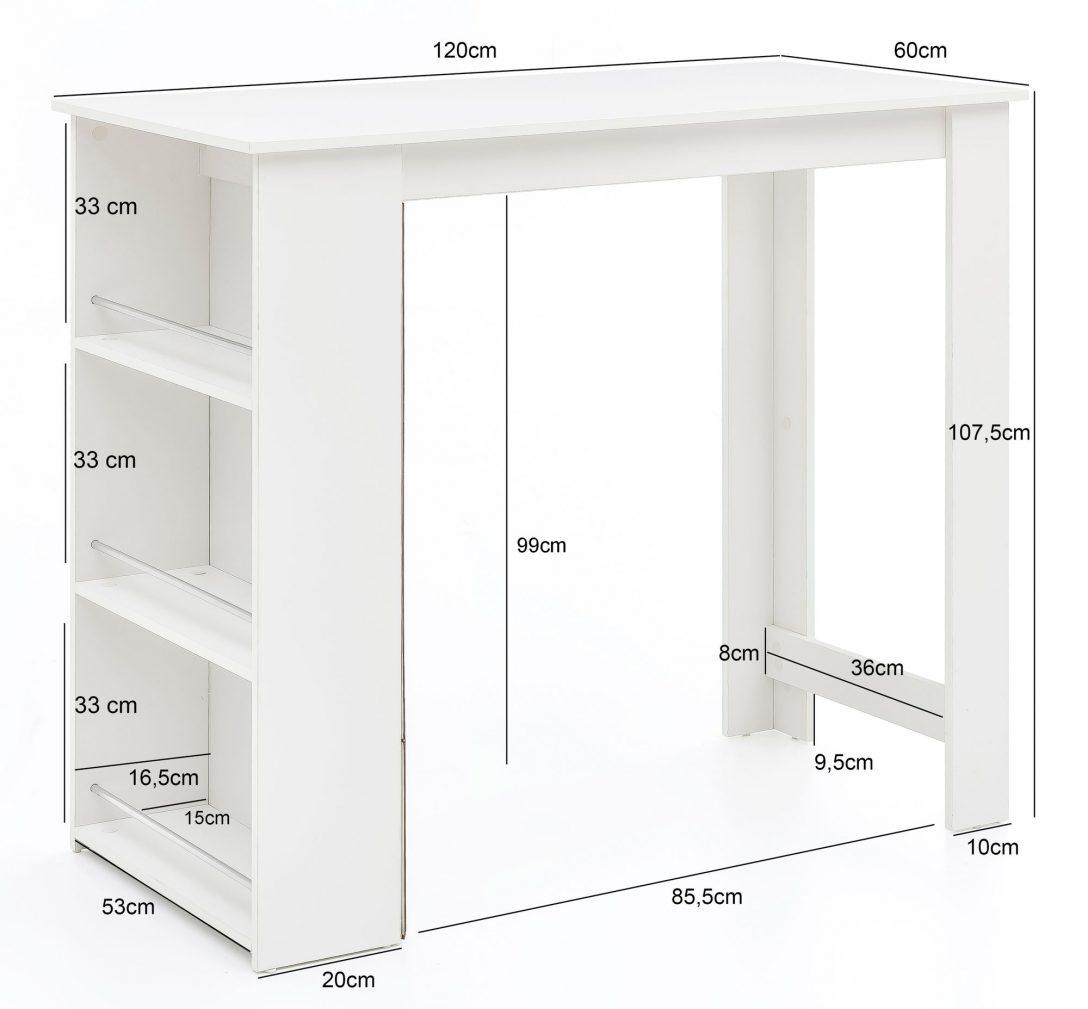 Large Size of Bartisch Wei 120 Online Kaufen Wohnzimmer Küchenbartisch