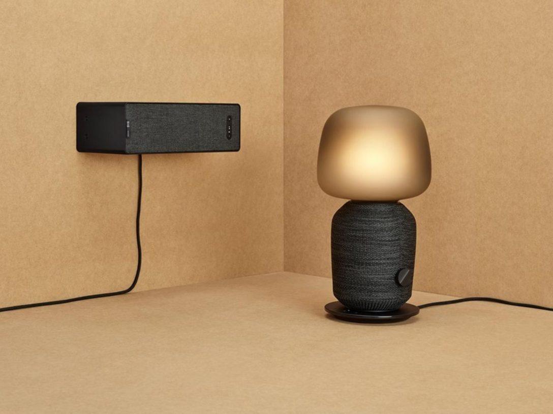 Large Size of Ikea Lampen Symfonisk Und Sonos Smarter Lautsprecher Oder Lampe Betten 160x200 Deckenlampen Wohnzimmer Badezimmer Stehlampen Esstisch Schlafzimmer Küche Wohnzimmer Ikea Lampen