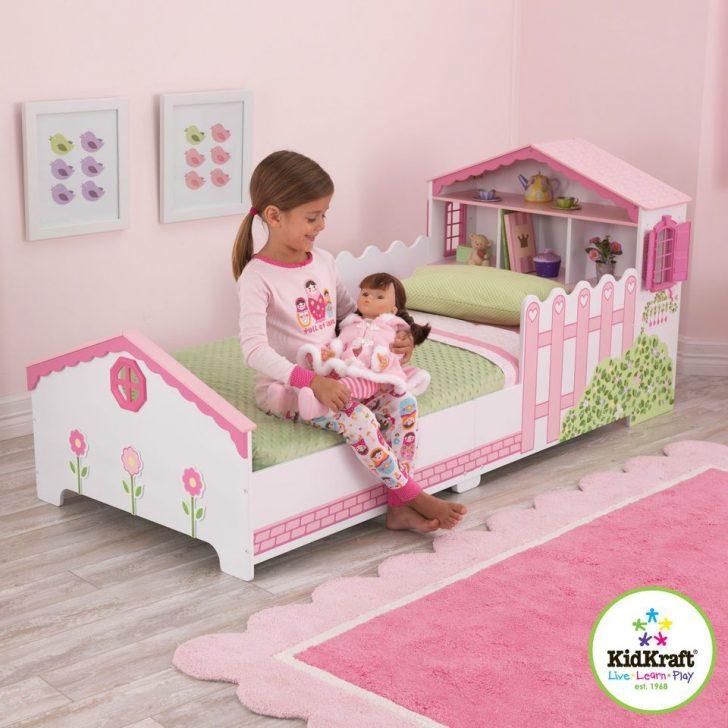 Medium Size of Kinderbett Mädchen Mdchen Rosa Mit Puppenhaus Kidkraft Bett Betten Wohnzimmer Kinderbett Mädchen