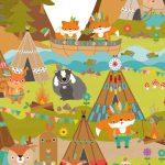 Kinderzimmer Tapete Mutige Indianer In Tippis Miyo Mori Fototapete Küche Fenster Tapeten Für Regal Wohnzimmer Regale Modern Ideen Die Schlafzimmer Weiß Sofa Wohnzimmer Kinderzimmer Tapete