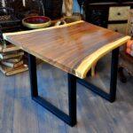 Esstisch Holz Designer Akazie Metallgestell Einzelstck Schlafzimmer Komplett Massivholz Rustikal Bett Ausziehbar Ovaler Massiver Betten Oval Weißer Altholz Esstische Esstisch Holz