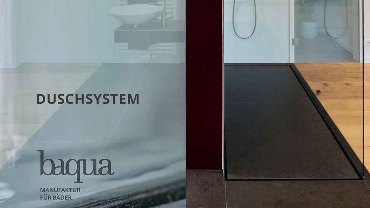 Full Size of Bodengleiche Dusche Baqua Duschsystem Ohne Geflle Youtube Badewanne Schiebetür Glastrennwand Thermostat Mischbatterie Bodenebene Schulte Duschen Werksverkauf Dusche Bodengleiche Dusche