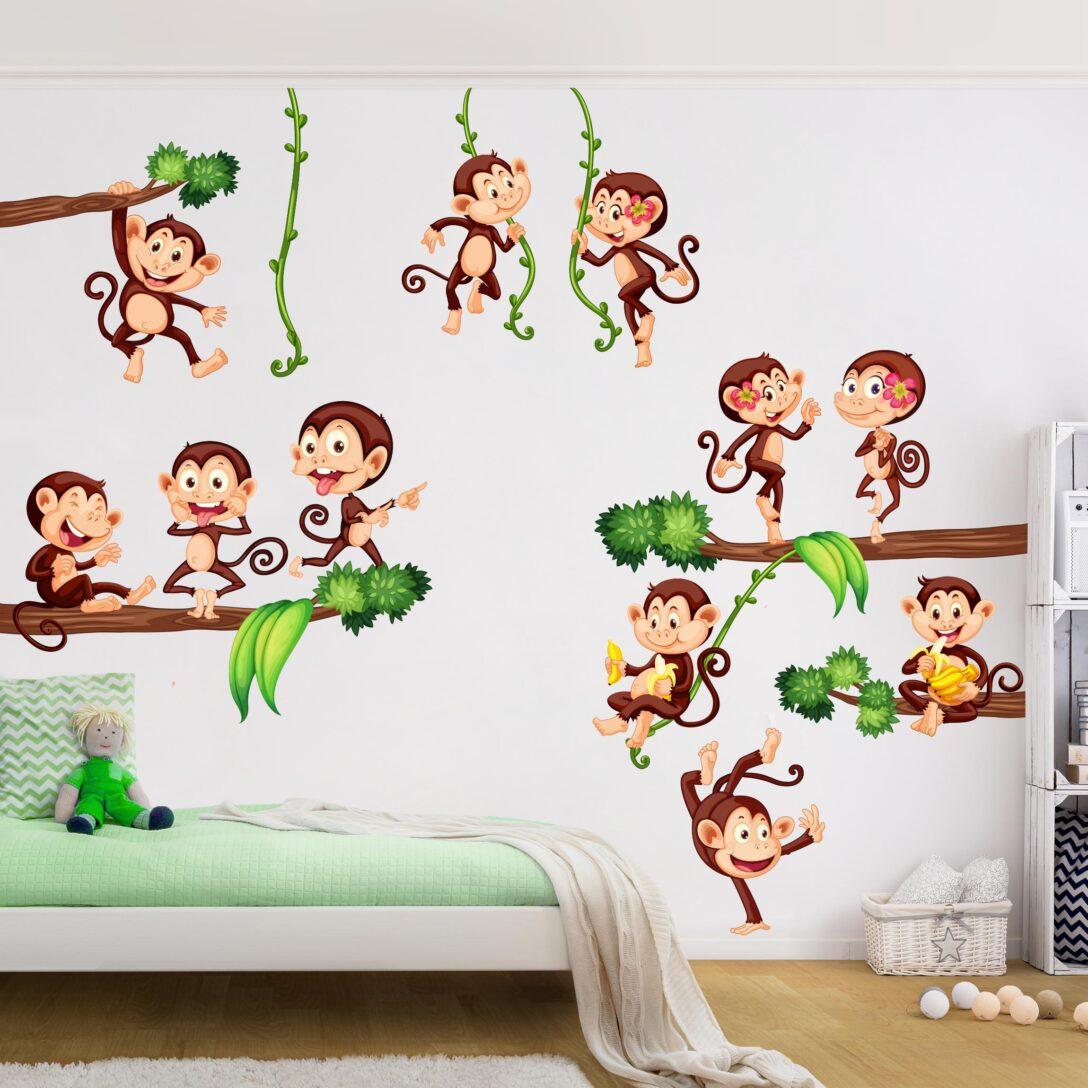 Large Size of Wandtattoo Kinderzimmer Affen Des Dschungels Badezimmer Regal Sofa Wandtattoos Bad Sprüche Küche Schlafzimmer Wohnzimmer Regale Weiß Kinderzimmer Wandtattoo Kinderzimmer Tiere