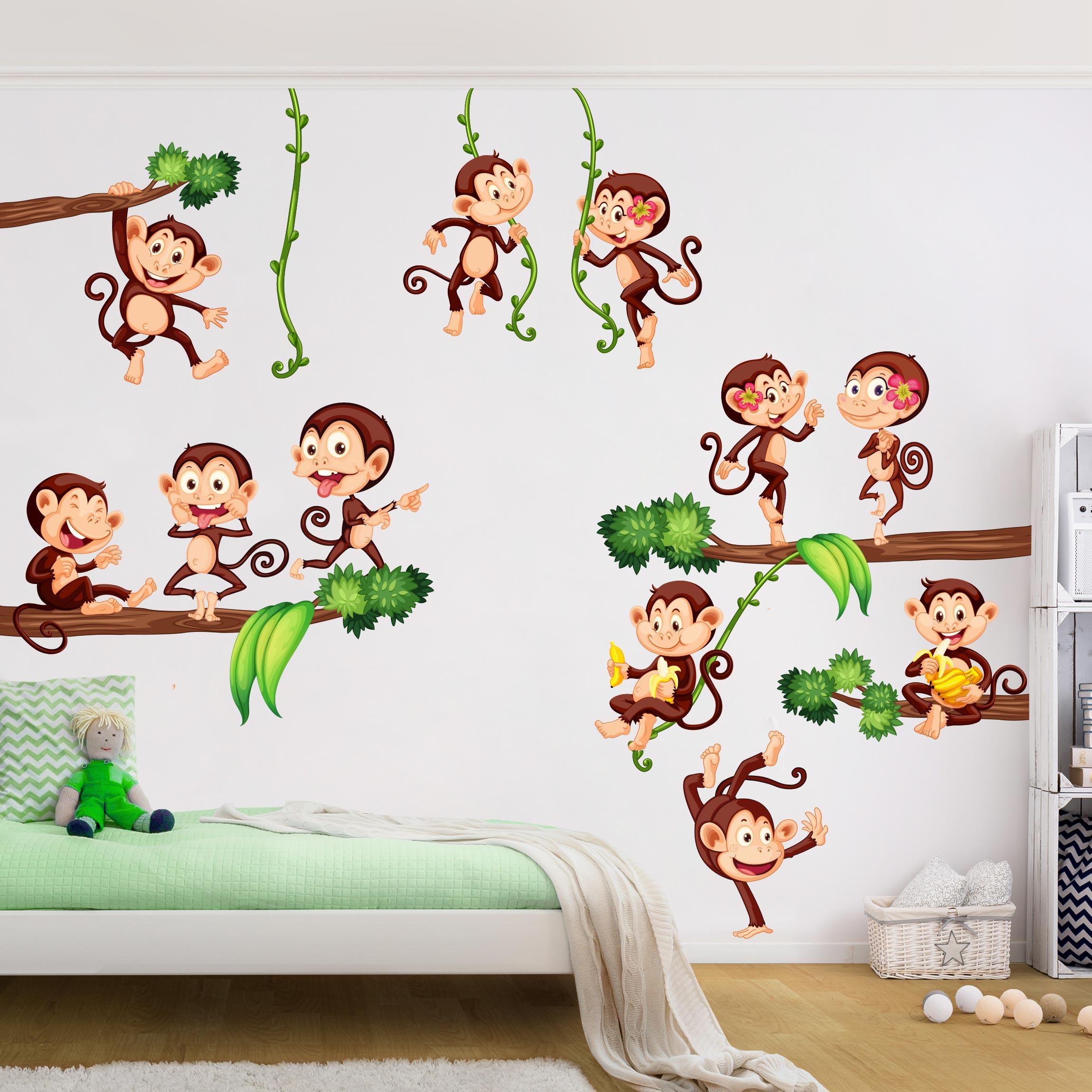 Full Size of Wandtattoo Kinderzimmer Affen Des Dschungels Badezimmer Regal Sofa Wandtattoos Bad Sprüche Küche Schlafzimmer Wohnzimmer Regale Weiß Kinderzimmer Wandtattoo Kinderzimmer Tiere
