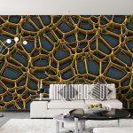 3d Tapeten Gold Design Von Mowade Fototapeten Wohnzimmer Schlafzimmer Für Die Küche Ideen Wohnzimmer 3d Tapeten