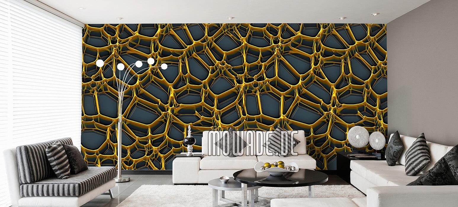 Full Size of 3d Tapeten Gold Design Von Mowade Fototapeten Wohnzimmer Schlafzimmer Für Die Küche Ideen Wohnzimmer 3d Tapeten