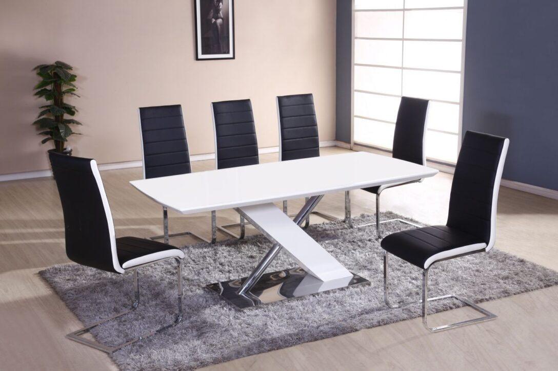 Large Size of Esstisch Stühle Set Bambari A27 Inkl 6 Sthle Schwarz Wei 180 X Günstig Oval Weiß Bogenlampe Weißer Modern Buche Esstischstühle Venjakob 160 Ausziehbar Esstische Esstisch Stühle