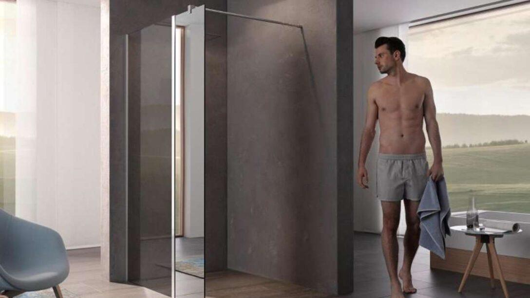 Large Size of Glaswand Dusche Ohne Tr Verbleibende Wand Muss Lang Genug Sein Wohnen Moderne Duschen Haltegriff Nischentür Begehbare Sprinz Einbauen Kaufen Komplett Set Dusche Glaswand Dusche
