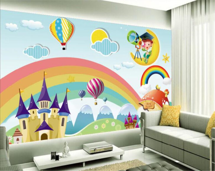 Medium Size of Wandbild Beibehang Custom Tapete Regenbogen Schloss Sofa Regal Wohnzimmer Weiß Regale Schlafzimmer Kinderzimmer Wandbild Kinderzimmer