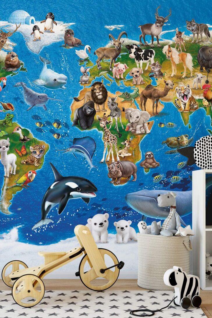 Medium Size of Fototapeten Kinderzimmer Fototapete Animal Club International Weltkarte Wohnzimmer Regal Weiß Sofa Regale Kinderzimmer Fototapeten Kinderzimmer