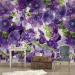 Fototapete Blumen Violett Dd105918 Küche Schlafzimmer Fenster Wohnzimmer Fototapeten Wohnzimmer Fototapete Blumen