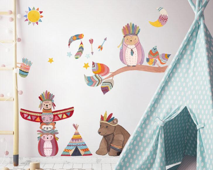 Wandtattoo Für Kinderzimmer Indianer Tierische Dekoration Spielgeräte Den Garten Such Frau Fürs Bett Klimagerät Schlafzimmer Küche Regale Keller Sofa Kinderzimmer Wandtattoo Für Kinderzimmer