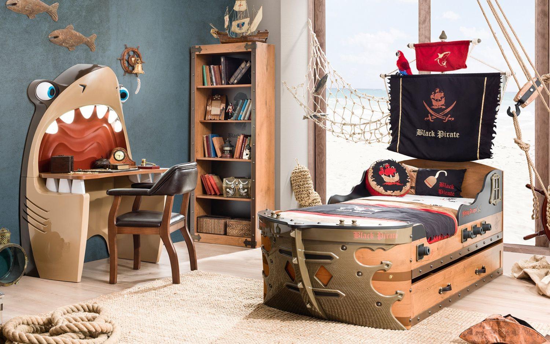 Full Size of Piraten Kinderzimmer Piratenzimmer Mit Schiffsbett Hier Gnstig Traum Mbelcom Sofa Regal Regale Weiß Kinderzimmer Piraten Kinderzimmer