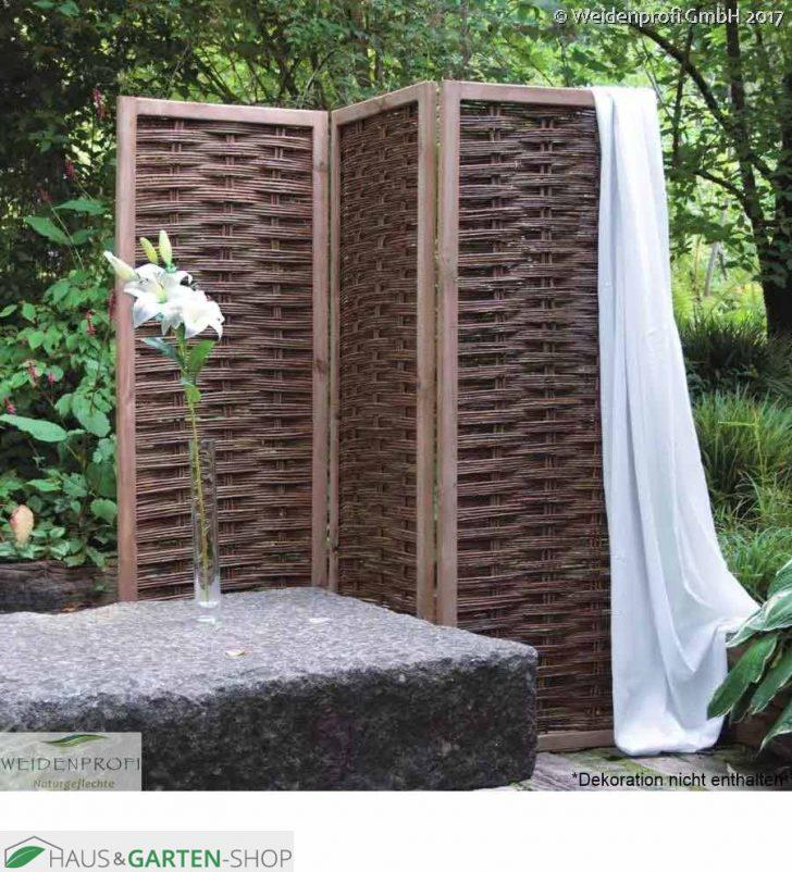 Medium Size of Paravent Terrasse Weidengeflecht 2 4teiliger Sichtschutz Garten Wohnzimmer Paravent Terrasse