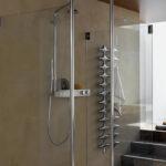 Dusche Wand Putz Statt Fliesen Barrierefreie Sprinz Duschen Schiebetür Glasabtrennung Kaufen Koralle Wandleuchte Schlafzimmer Bodengleiche Nachträglich Dusche Dusche Wand