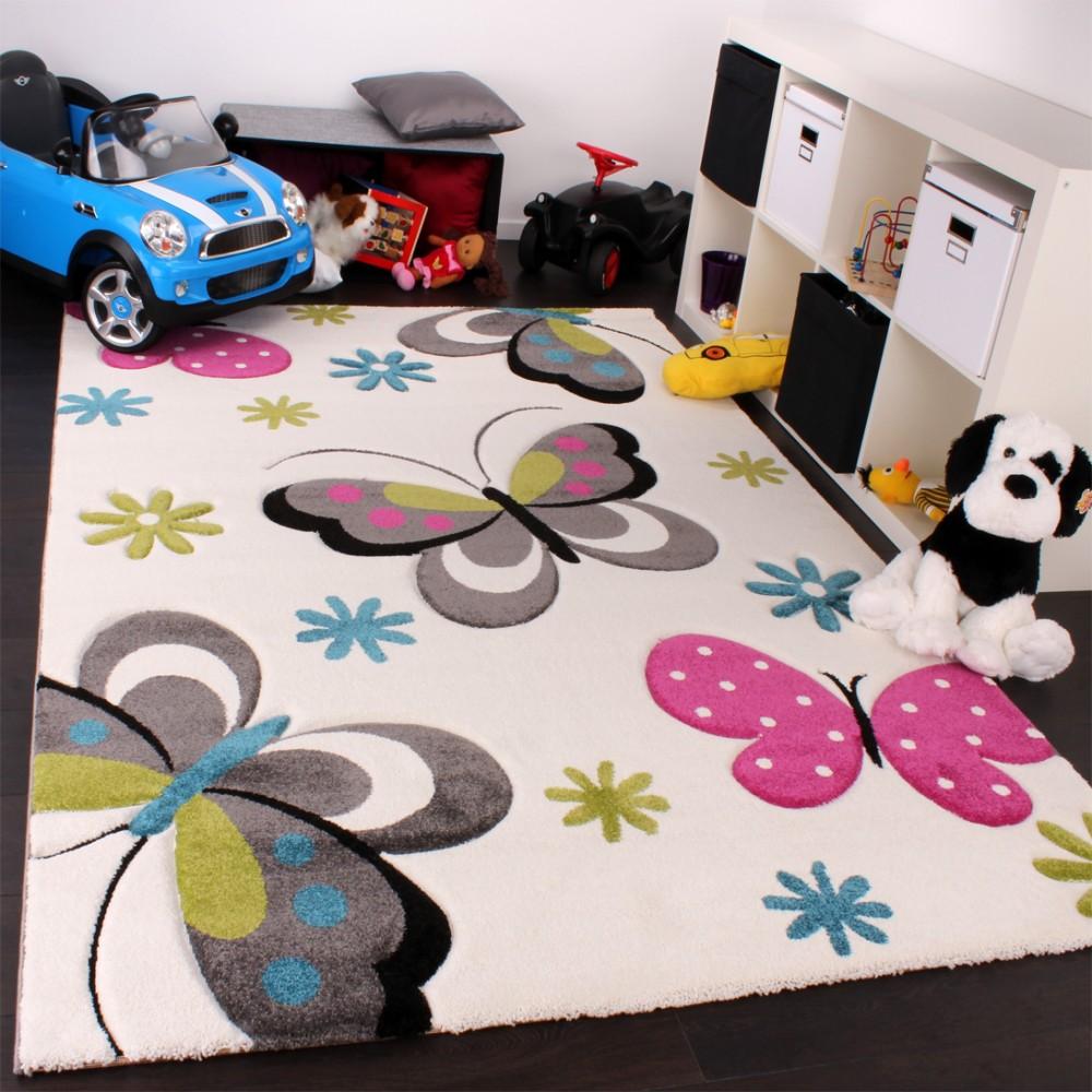 Full Size of Teppiche Für Kinderzimmer Kinderteppich Schmetterling Creme Pink Blau Teppichcenter24 Sichtschutz Garten Spiegelschrank Bad Sprüche Die Küche Betten Kinderzimmer Teppiche Für Kinderzimmer
