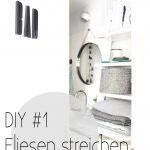 Bodenfliesen Streichen Mein Bad Voller Diys 1 Fliesen Oh A Room Küche Wohnzimmer Bodenfliesen Streichen