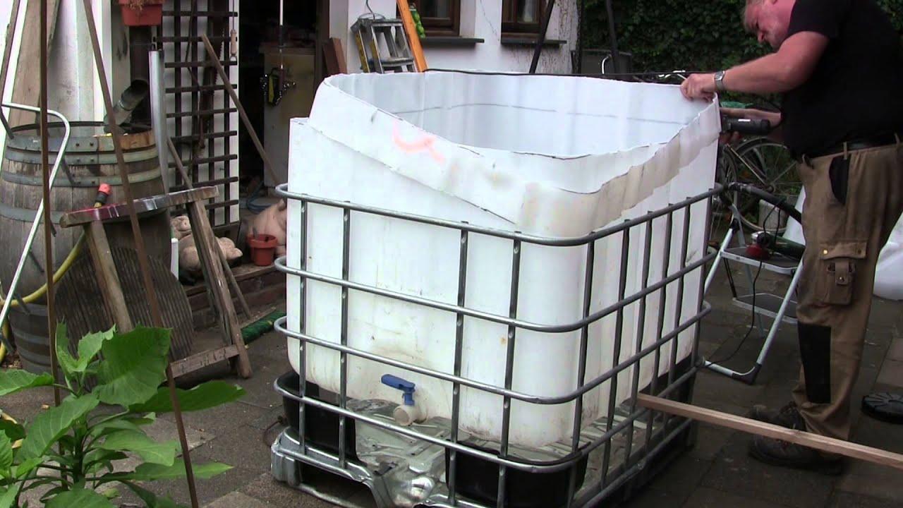 Full Size of Video Pool Aus Ibc Tank Container Selber Bauen So Einfach Gehts Kopfteil Bett Küche Fenster Einbauen Kosten Boxspring Regale Bodengleiche Dusche Nachträglich Wohnzimmer Pool Selber Bauen