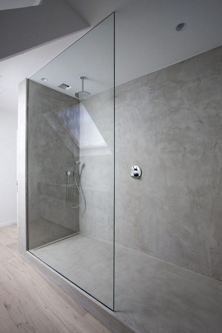 Medium Size of Ebenerdige Dusche Beton Im Bad Badezimmer Glastrennwand Bluetooth Lautsprecher Begehbare Duschen Moderne Schiebetür Fliesen Einbauen Einhebelmischer Dusche Ebenerdige Dusche