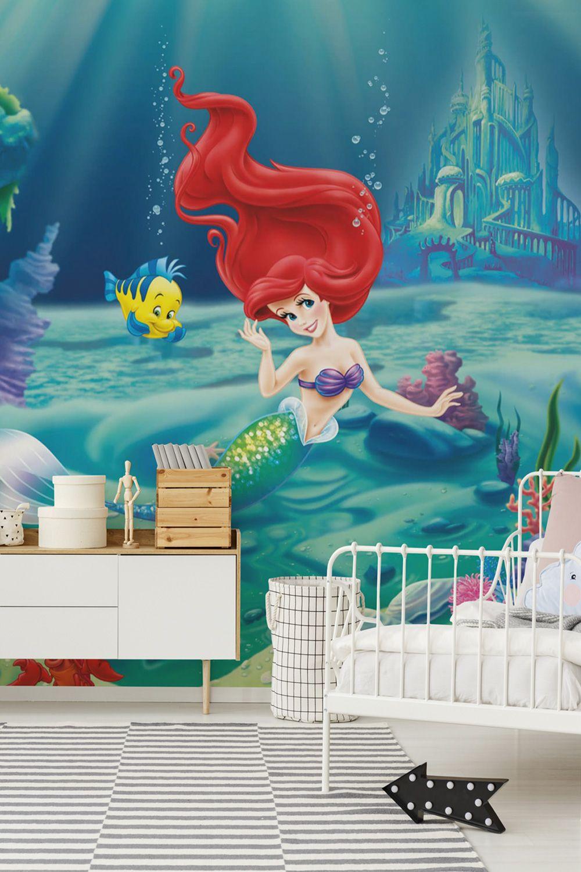Full Size of Fototapeten Kinderzimmer Arielle Meerjungfrau Verschnere Wand Im Regale Regal Sofa Weiß Wohnzimmer Kinderzimmer Fototapeten Kinderzimmer