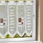 Küchengardinen Wohnzimmer Küchengardinen Kchengardine Caf Wei Braun 150 50 Cm Sb Lagerkauf