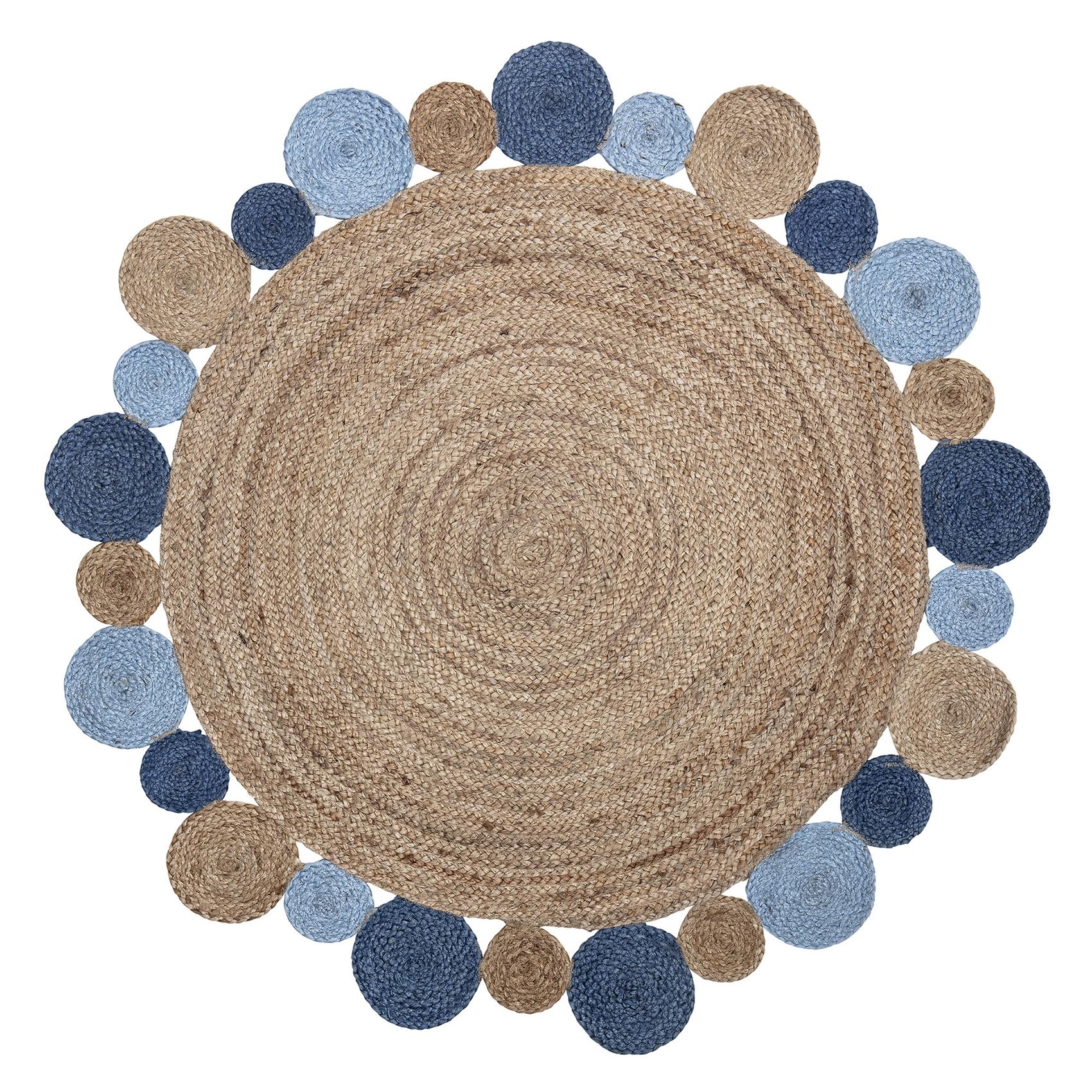 Full Size of Teppiche Kinderzimmer Bloomingville Jute Teppich Rund Natur Blau 120cm Regale Regal Weiß Wohnzimmer Sofa Kinderzimmer Teppiche Kinderzimmer