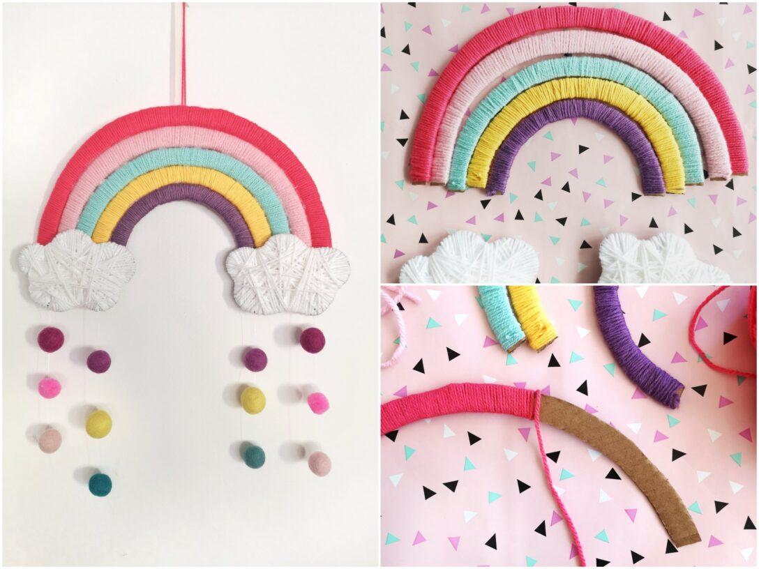 Large Size of Kinderzimmer Wanddeko Diy Regenbogen Aus Pappe Deko Einfach Selber Machen Regal Weiß Sofa Regale Küche Kinderzimmer Kinderzimmer Wanddeko