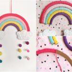 Kinderzimmer Wanddeko Kinderzimmer Kinderzimmer Wanddeko Diy Regenbogen Aus Pappe Deko Einfach Selber Machen Regal Weiß Sofa Regale Küche