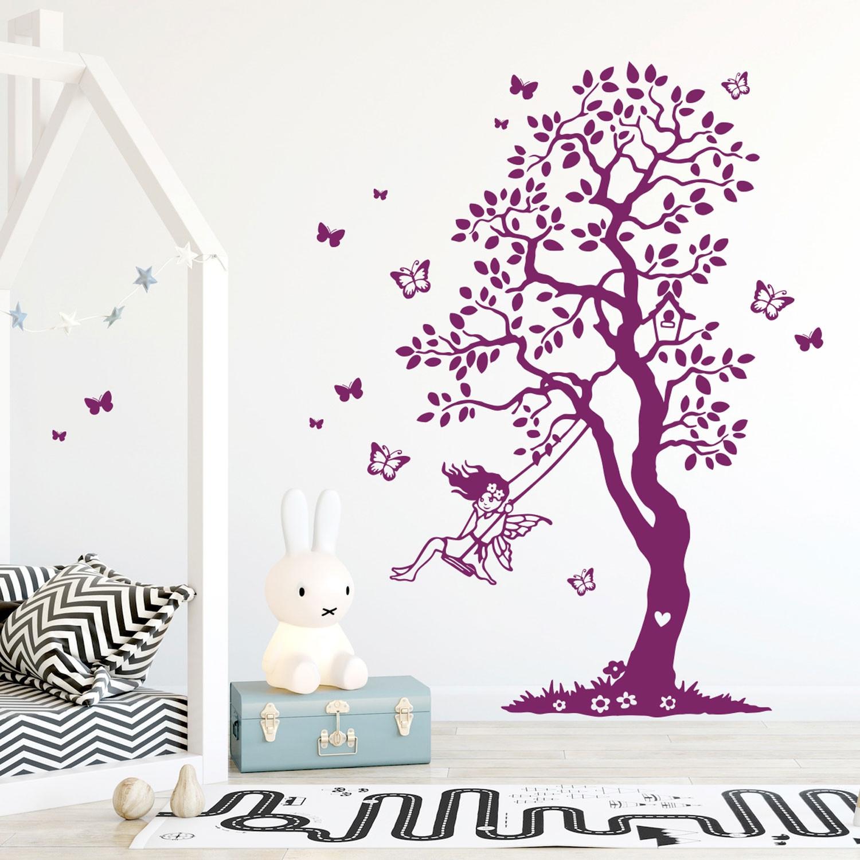 Full Size of Wandtattoo Baum Elfe Fee Auf Schaukel Schmetterlinge Garten Kinderschaukel Für Sofa Kinderzimmer Schaukelstuhl Regal Weiß Regale Kinderzimmer Schaukel Kinderzimmer