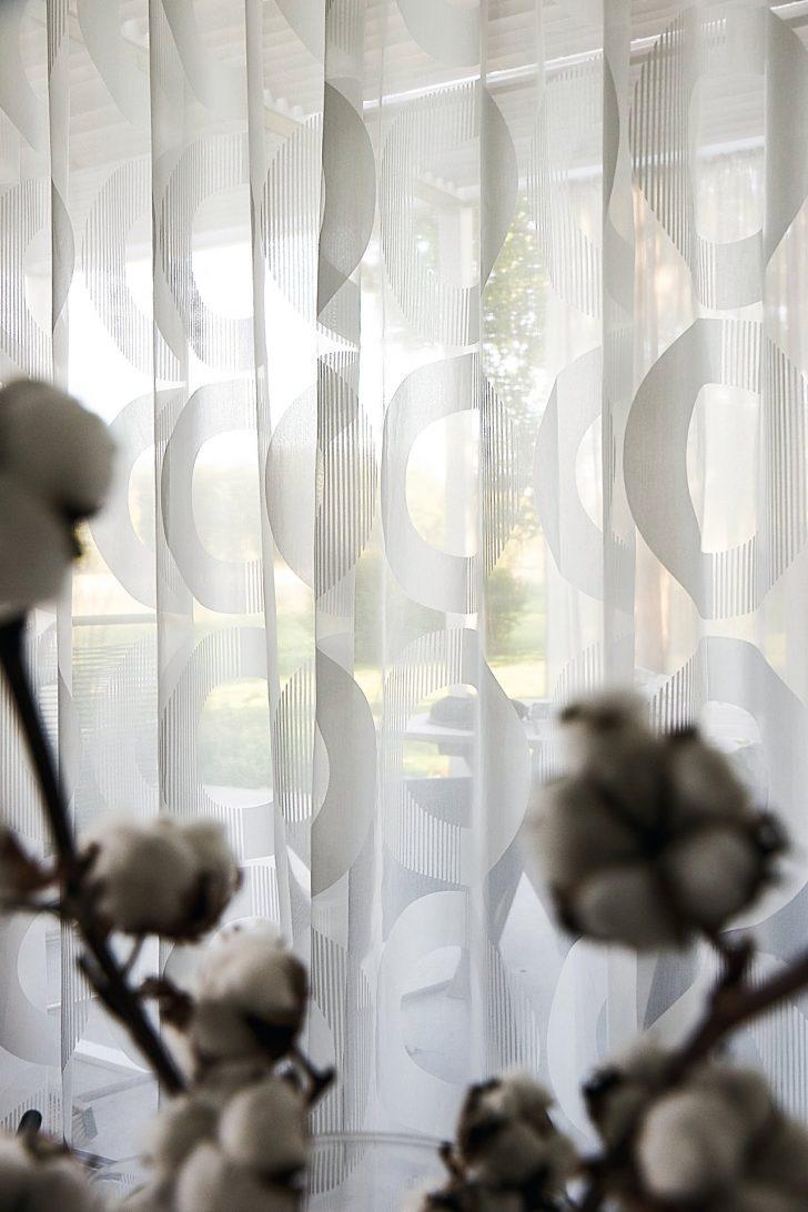 Medium Size of Vorhang Linnea Modernes Muster Halbtransparent Auf Ma Wohnzimmer Gardinen Wandtattoos Küche Modern Weiss Board Tapeten Ideen Teppich Poster Beleuchtung Wohnzimmer Gardinen Modern Wohnzimmer