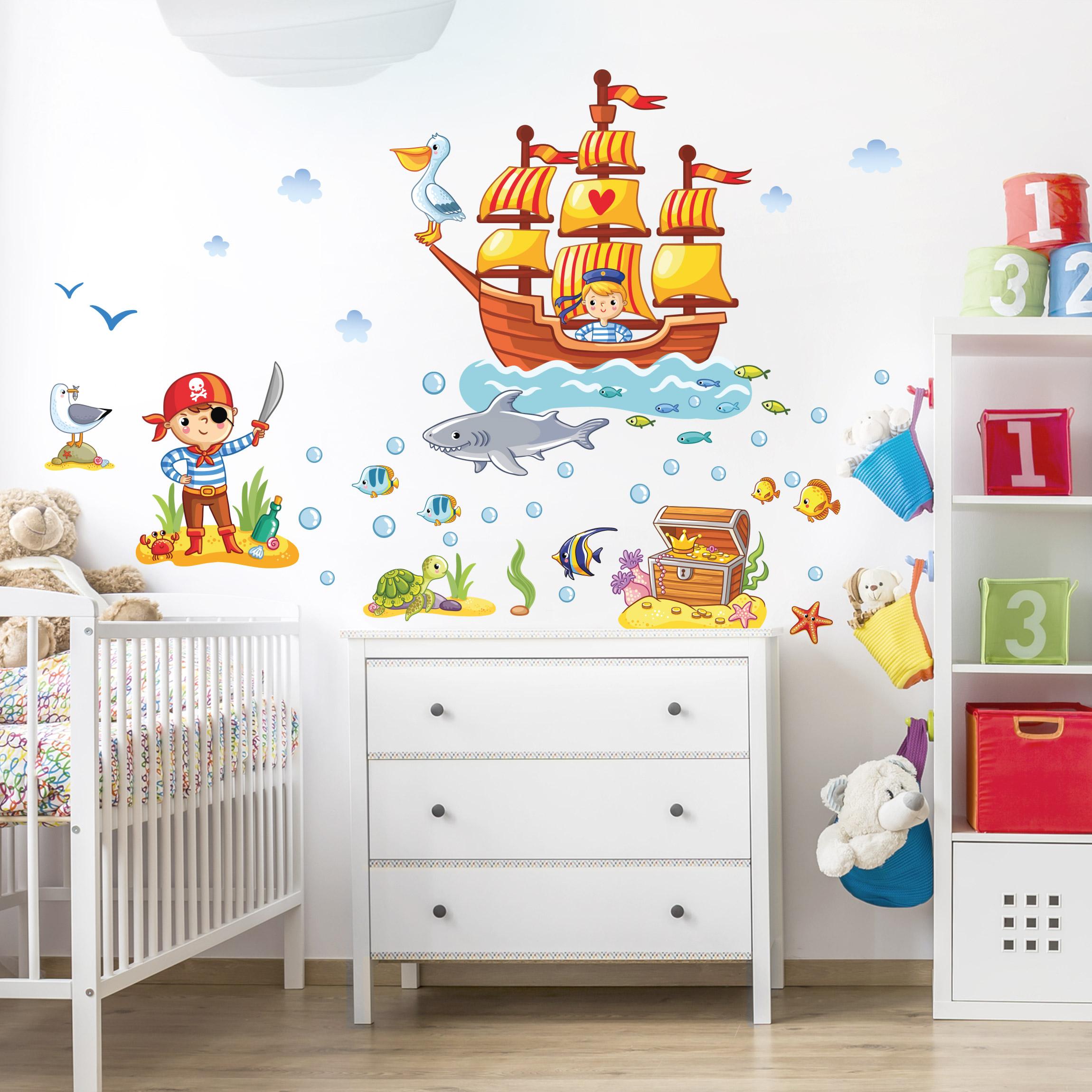 Full Size of Piraten Kinderzimmer Wandtattoo Set Regal Sofa Weiß Regale Kinderzimmer Piraten Kinderzimmer