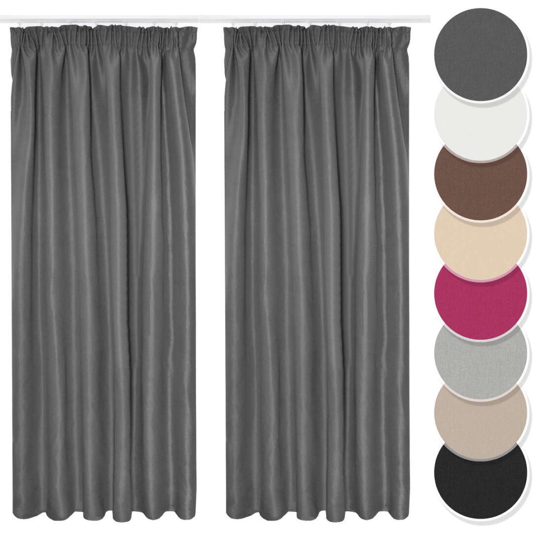 Large Size of Vorhang 2er Set Gardine Curtain Blickdicht Kruselband Dunkelgrau Gardinen Für Wohnzimmer Fenster Küche Schlafzimmer Kurzzeitmesser Die Scheibengardinen Wohnzimmer Gardinen Kurz