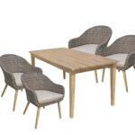 Stühle Esstisch 9tlg Garten Tischgruppe Stuhl Sthle Akazie Rattan Optik Sofa Pendelleuchte Skandinavisch Stapelstühle Runde Esstische Bogenlampe 2m Glas 160 Esstische Stühle Esstisch