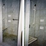 Behindertengerechte Dusche Dusche Behindertengerechte Dusche Querollantin Wand Unterputz Armatur Antirutschmatte Kleine Bäder Mit Begehbare Fliesen Bodenebene Ohne Tür Mischbatterie