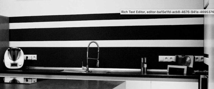 Medium Size of Küchenwand Wandmuster Selber Streichen Heimwerkerde Wohnzimmer Küchenwand