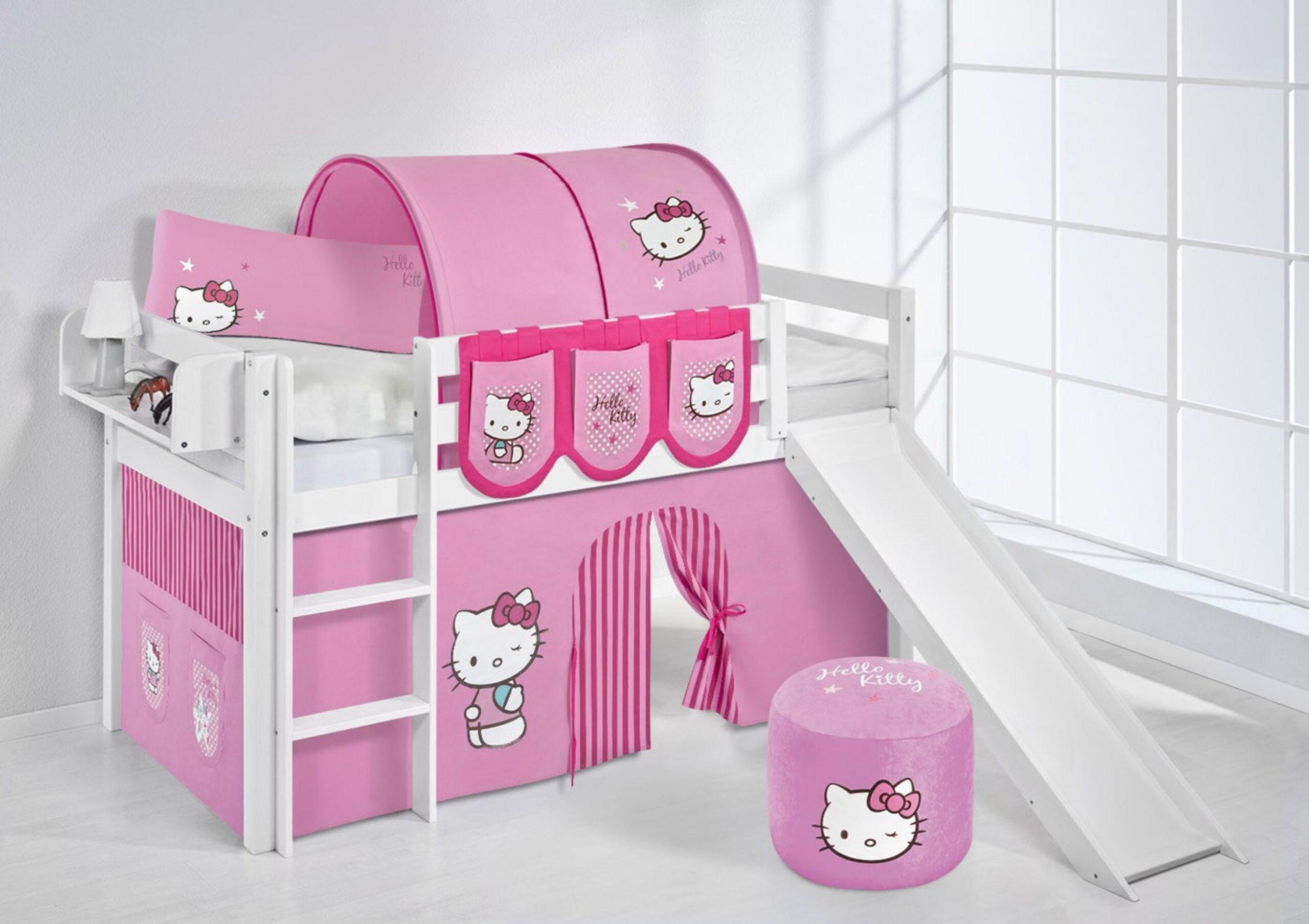 Full Size of Kinderzimmer Vorhang Spielbett Hello Kitty Rosa Wei Mit Rutsche Und Jelle Wohnzimmer Regal Bad Weiß Regale Sofa Küche Kinderzimmer Kinderzimmer Vorhang