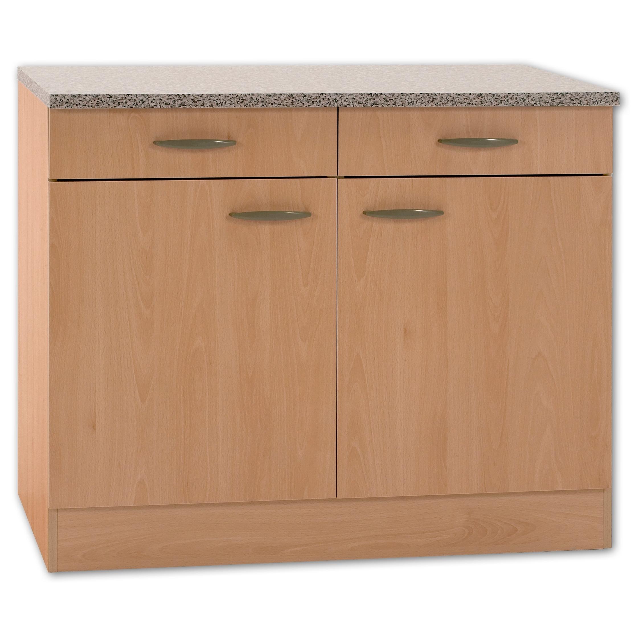 Full Size of Küchenunterschrank Kchenunterschrank Klassik Buche Nachbildung Mit Arbeitsplatte 100 Wohnzimmer Küchenunterschrank