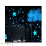 Sternenhimmel Kinderzimmer Kinderzimmer Sternenhimmel Kinderzimmer Leuchtsterne Fluoreszierend Himmel Blau Regal Regale Weiß Sofa