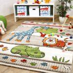 Kinderzimmer Teppiche Kinderzimmer Kinderzimmer Teppiche Teppich Savona Kids Lustige Zoowelt Beige Kinder Wohnzimmer Sofa Regal Regale Weiß
