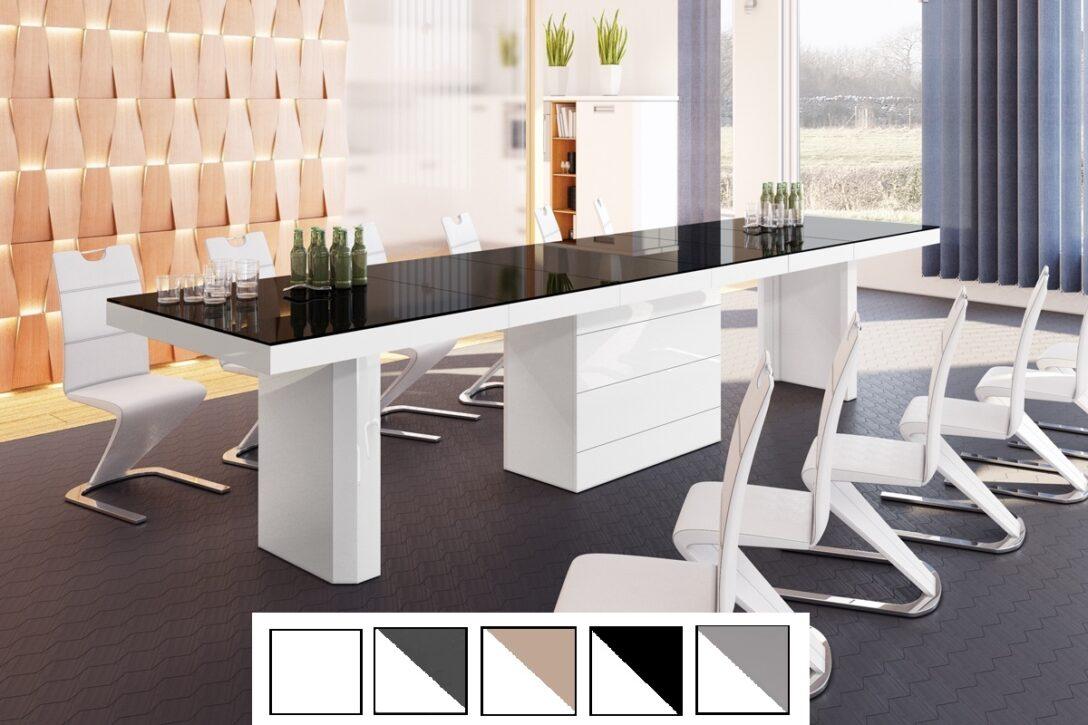 Large Size of Esstische Design Esstisch Tisch He 444 Schwarz Wei Hochglanz Xxl Kleine Rund Moderne Massivholz Runde Ausziehbar Holz Designer Massiv Esstische Esstische